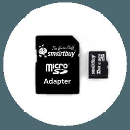 Карты памяти SD, MicroSD, MicroSDHC